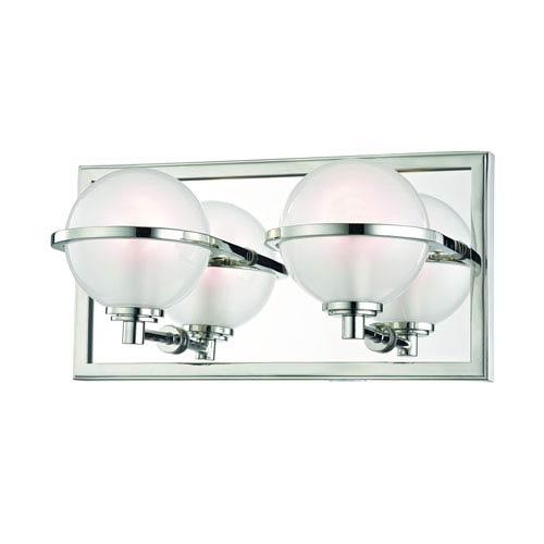 Hudson Valley Axiom Polished Nickel LED Bath Sconce
