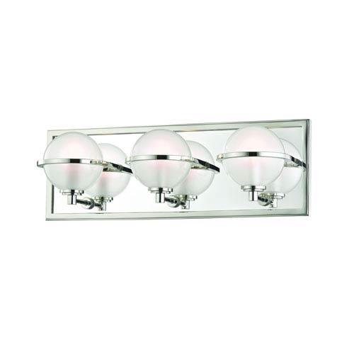 Axiom Polished Nickel LED Bath Sconce