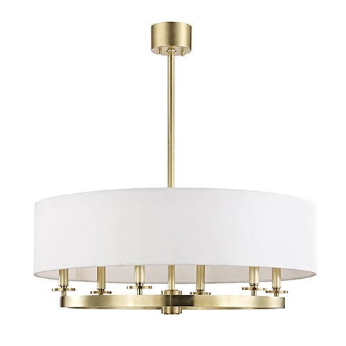 Hudson Valley Durham Aged Brass 6-Light 30.5-Inch Pendant