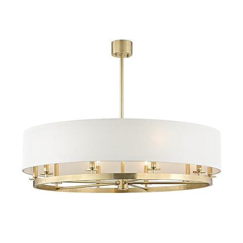 Hudson Valley Durham Aged Brass 10-Light 42-Inch Pendant