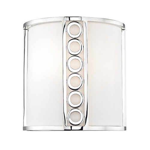 Hudson Valley Infinity Polished Nickel 2-Light 10-Inch Wall Sconce