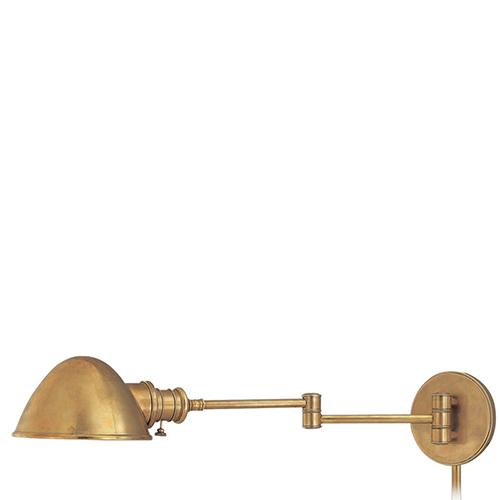 Hudson Valley Roslyn Aged Brass Swing Arm Lamp