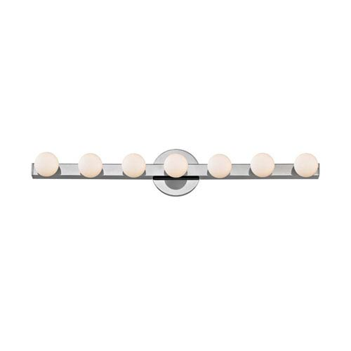 Taft Polished Chrome LED 27-Inch Seven-Light Bath Sconce