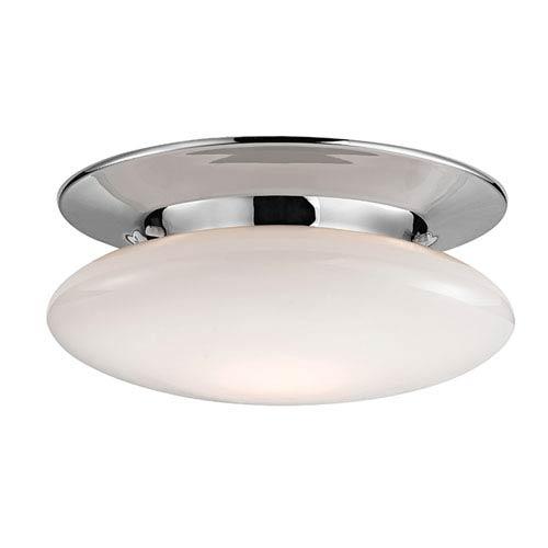 Hudson Valley Irvington Polished Chrome Twelve-Inch LED Flushmount