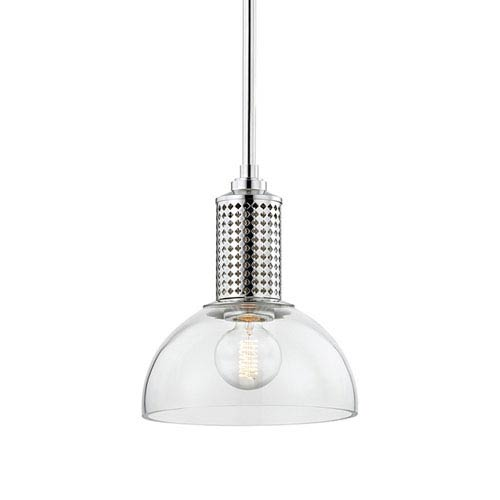 Hudson Valley Halcyon Polished Nickel 10-Inch One-Light Pendant