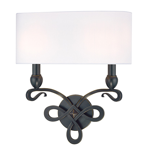 Hudson Valley Pawling Old Bronze Two-Light Wall Sconce