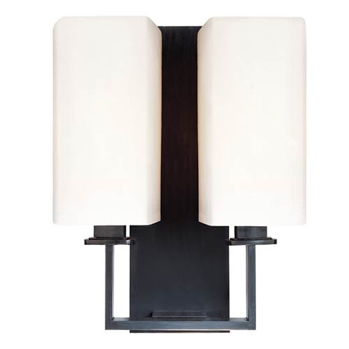 Hudson Valley Baldwin Old Bronze Two-Light Wall Sconce