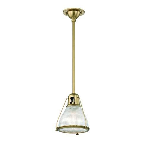 Haverhill Aged Brass One-Light Mini Pendant
