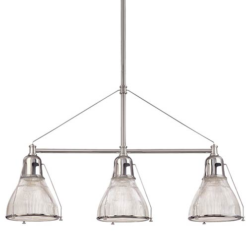 Haverhill Polished Nickel Three-Light Island Light