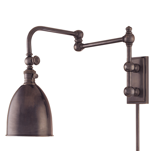 Hudson Valley Roslyn Old Bronze Adjustable Arm Wall Sconce ...