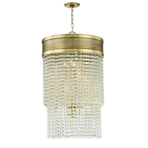 Hudson Valley Harrison Aged Brass 12-Light Pendant