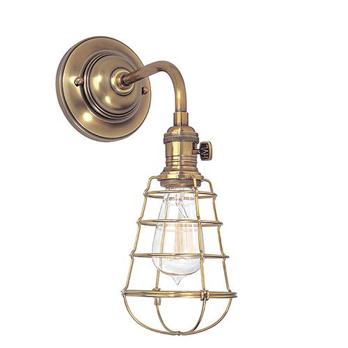 Hudson Valley Heirloom Aged Brass One-Light Sconce