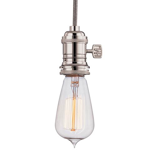 Hudson Valley Heirloom Polished Nickel One-Light 5.5-Foot Cord Mini Pendant