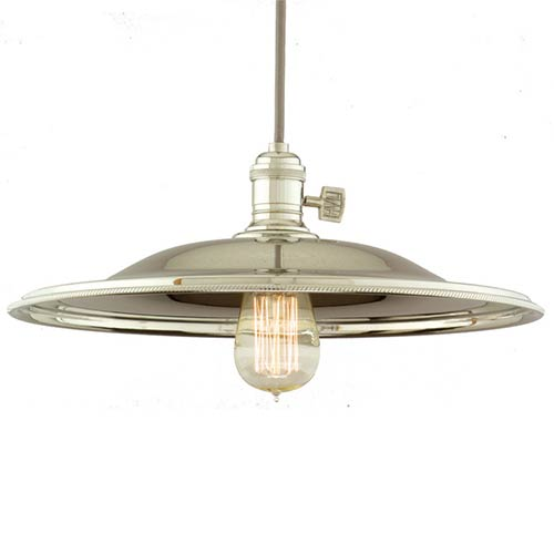 Hudson Valley Heirloom Polished Nickel One-Light 5.5-Foot Cord Pendant with Medium Flared Metal