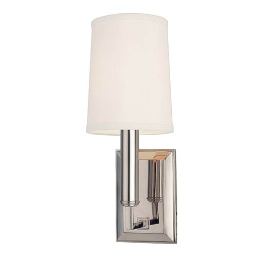 Hudson Valley Clinton Polished Nickel Wall Sconce