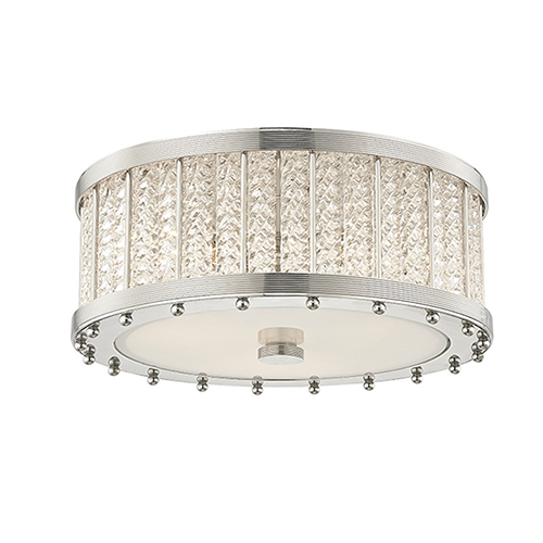 Hudson Valley Shelby Polished Nickel 3-Light 16-Inch Flush Mount