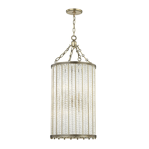 Hudson Valley Shelby Aged Brass 8-Light 16-Inch Pendant