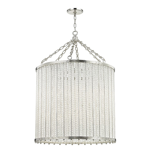 Hudson Valley Shelby Polished Nickel 12-Light 28-Inch Pendant