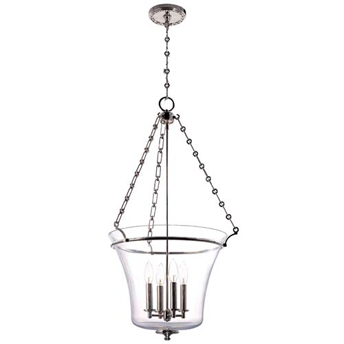 Hudson Valley Eaton Polished Nickel 34-Inch Four-Light Pendant