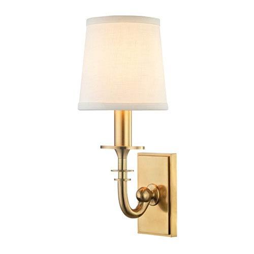 Carroll Aged Brass One-Light Wall Sconce