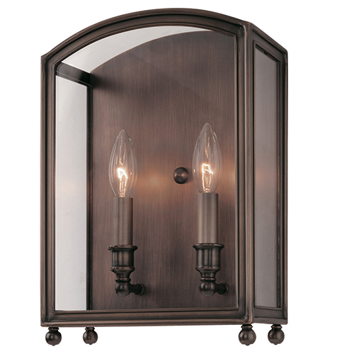 Hudson Valley Millbrook Distressed Bronze Two-Light Wall Sconce