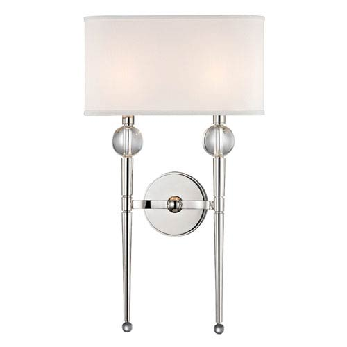 Rockland Polished Nickel Two-Light Wall Sconce