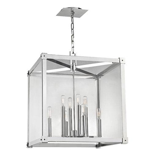 Forsyth Polished Nickel Eight-Light Pendant