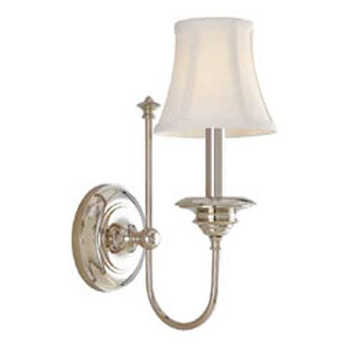 Hudson Valley Yorktown Polished Nickel One-Light Wall Sconce