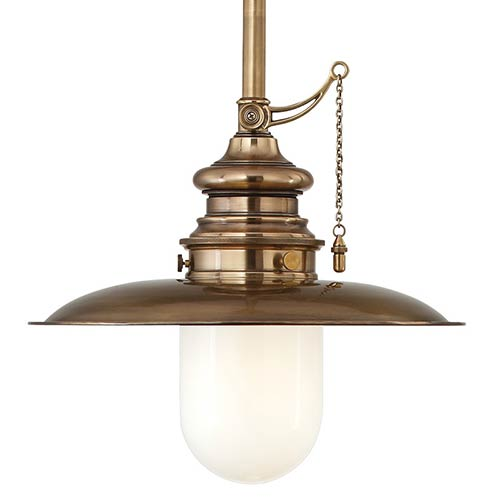 Pull chain light fixture bellacor hudson valley kendall aged brass 15 inch one light pendant aloadofball Image collections