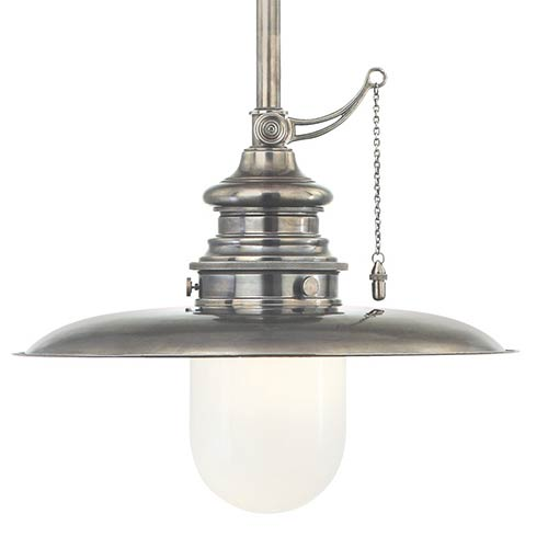 Hudson Valley Kendall Historic Nickel 20-Inch One-Light Pendant