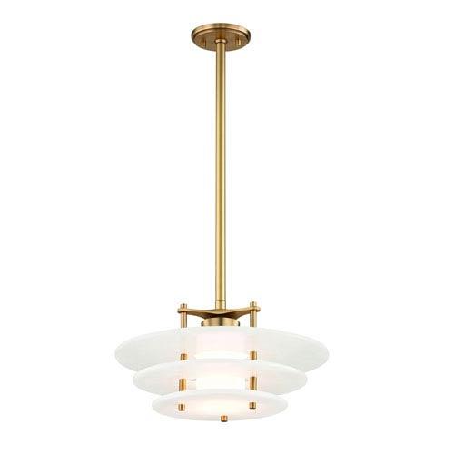 Hudson Valley Gatsby Aged Brass 16-Inch LED Pendant