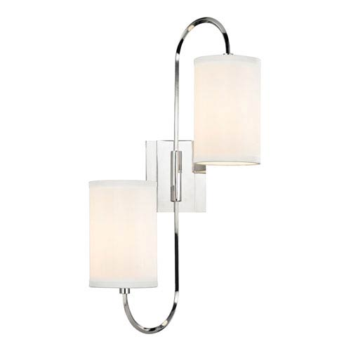 Junius Polished Nickel Two-Light Wall Sconce