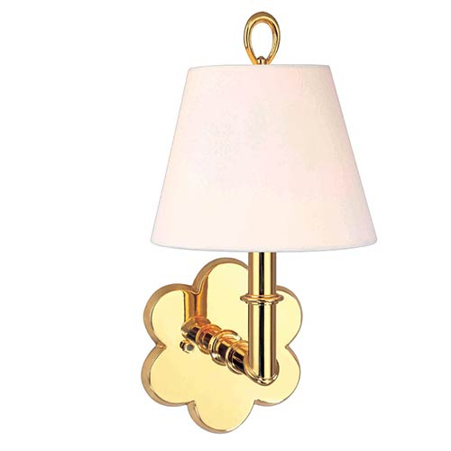 Hudson Valley Pomona Polished Brass One-Light Sconce