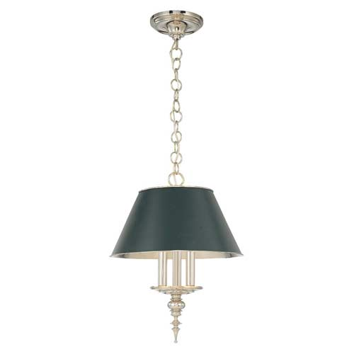 Cheshire Three-Light Antique Nickel Mini Chandelier