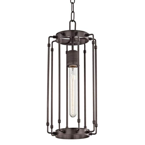 Hyde Park Old Bronze 8-Inch One-Light Mini Pendant