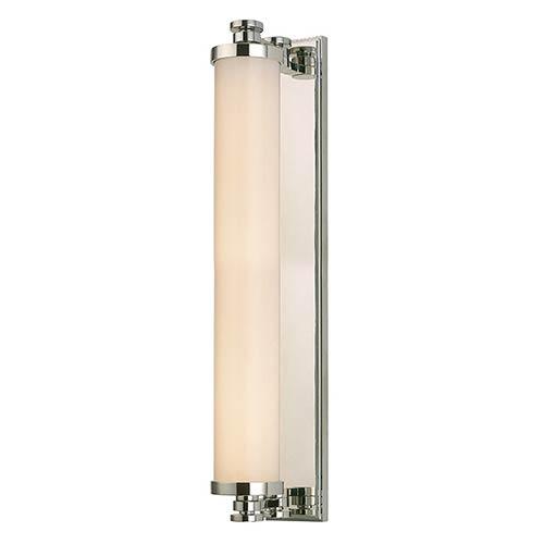 Sheridan Polished Nickel LED 14-Light Bath Light Fixture with Opal Glass
