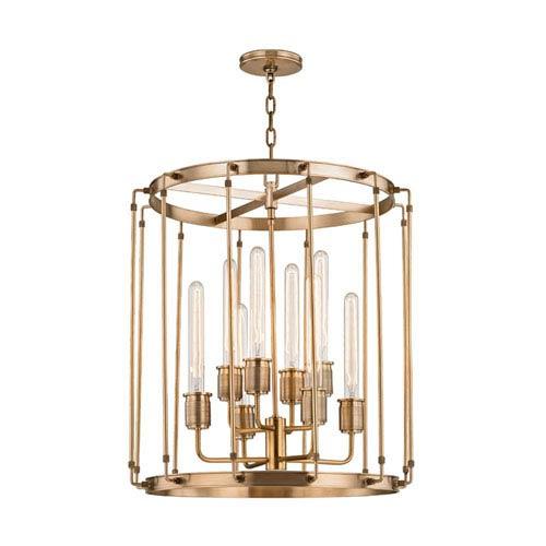 Hyde Park Aged Brass 22-Inch Eight-Light Pendant