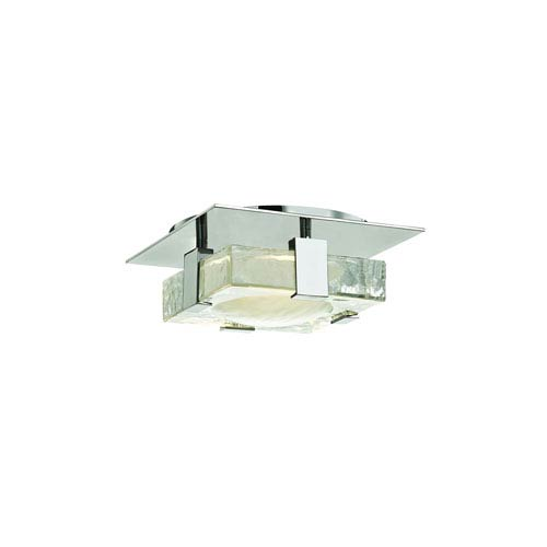 Bourne Polished Nickel Eight-Inch LED Flush Mount
