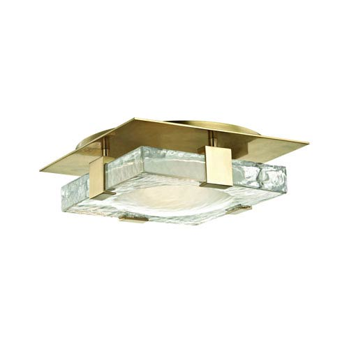 Bourne Aged Brass 11-Inch LED Flush Mount