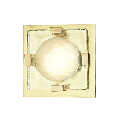 Hudson Valley Lighting Bourne: Hudson Valley Bourne Aged Brass 11 Inch LED Flush Mount