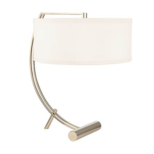 Hudson Valley Deyo Polished Nickel Two-Light Table Lamp with White Shade
