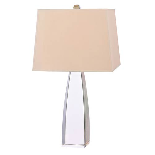 Delano Polished Nickel One-Light 15 Inch x 25 Inch - Table Lamp with Cream Shade