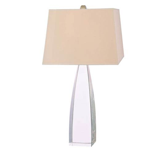 Hudson Valley Delano Polished Nickel One-Light 18 Inch x 30 Inch - Table Lamp with Cream Shade