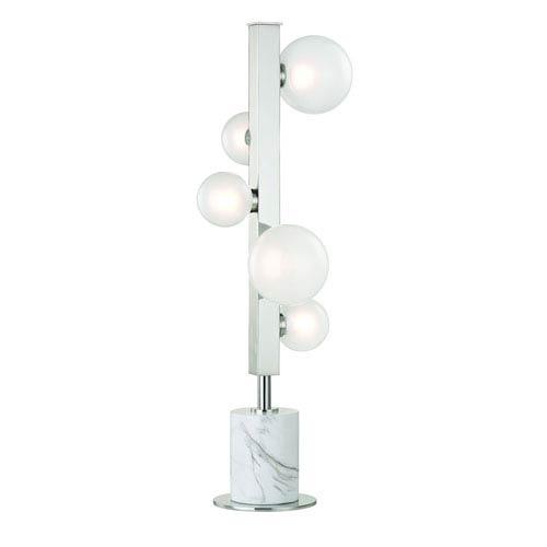 Hudson Valley Mini Hinsdale Polished Nickel LED Table Lamp