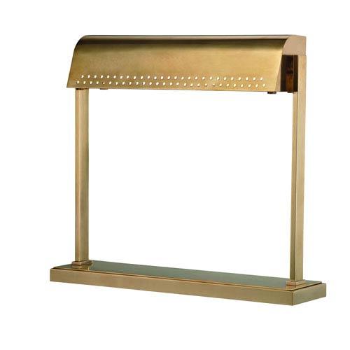 Garfield Aged Brass LED Desk Lamp