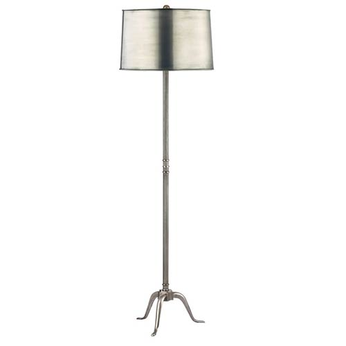 Burton Aged Silver One-Light 70.5 Inch Floor Lamp with Metal Shade
