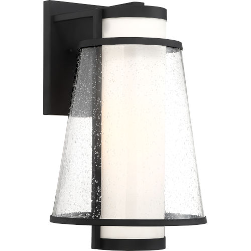 Anau Black One-Light Outdoor Wall Light