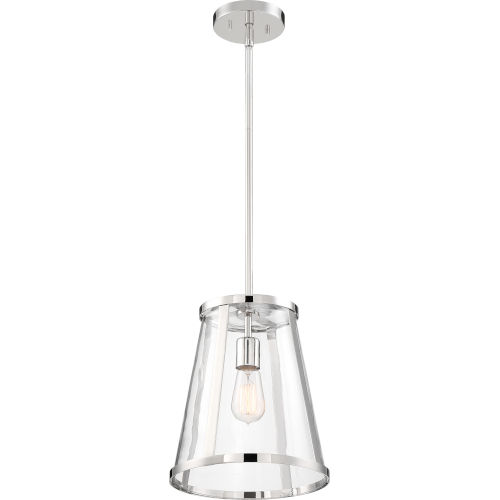Bruge Nickel One-Light Pendant