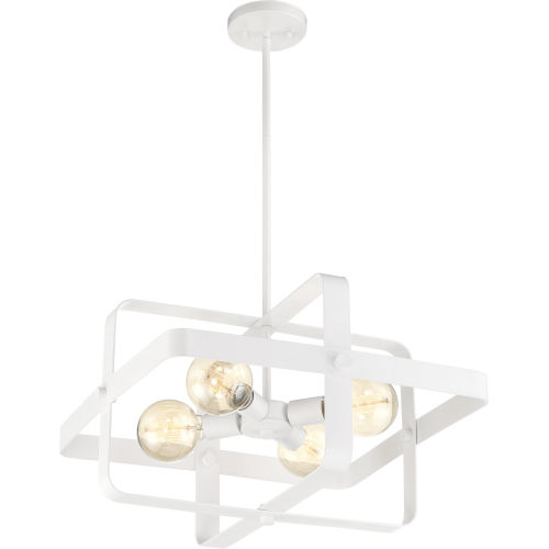 Prana White 20-Inch Four-Light Pendant