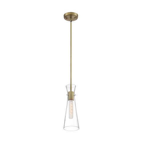 Bahari Vintage Brass One-Light Mini Pendant